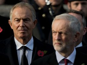 Tony Blair has called on Jeremy Corbyn to 'nail each myth of the Brexit campaign'