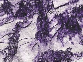 Researchers discovered 26 volcanoes. Picture: P. Reynolds, S. Holford, N. Schofield, and A. Ross