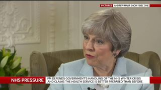 Theresa May speaks about the NHS on the Andrew Marr show