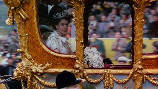 The Queen on her way to her Coronation in 1953