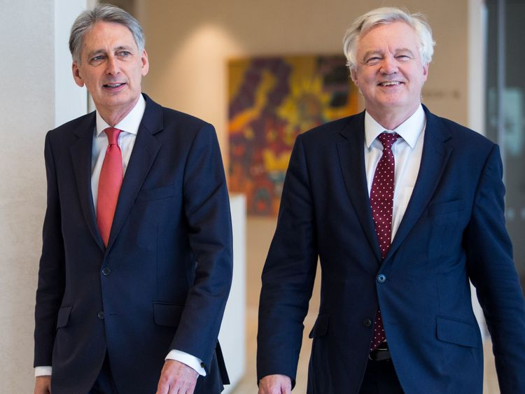 The pair made a plea for tariff-free trade between the UK and Germany