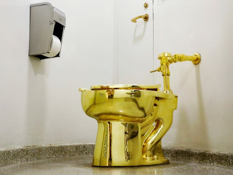 The fully functioning gold toilet was used by more than 100,000 visitors