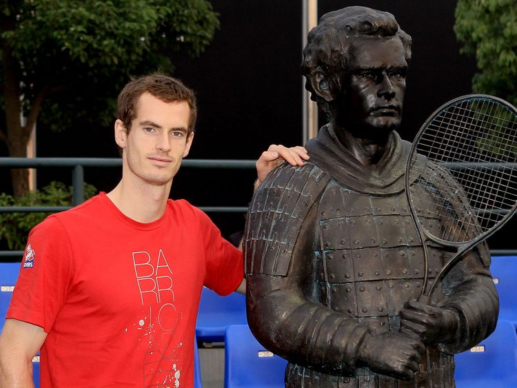 Murray's statue was created in the style of a terracotta warrior