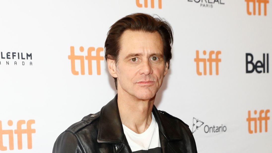 Jim Carrey at a recent preview of Jim & Andy: The Great Beyond