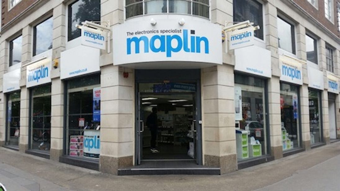 Maplin has more than 200 stores in the UK. Pic: Maplin