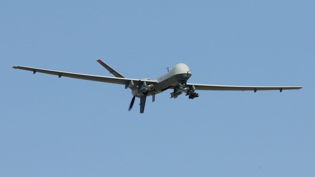 The strike was made from an MQ-9 Reaper drone. File pic