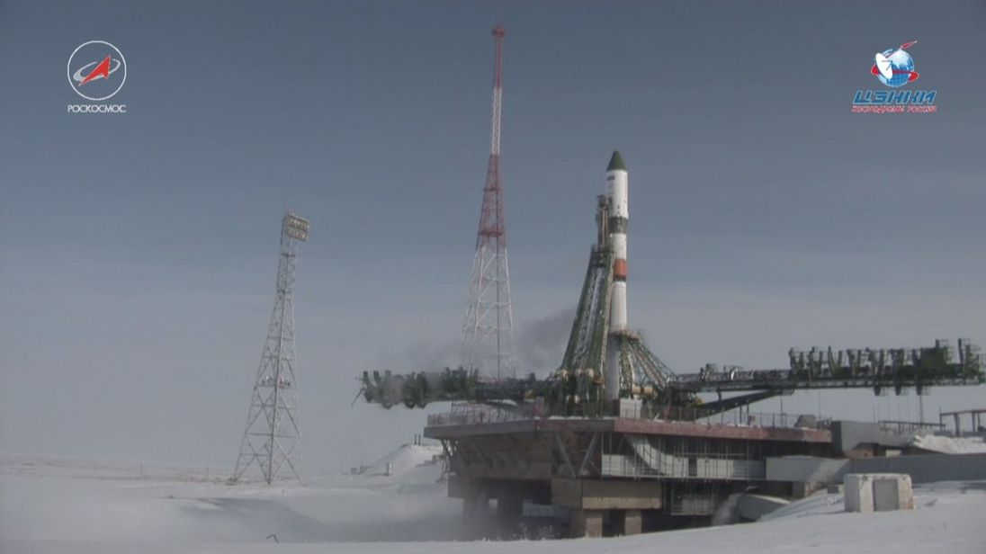 The rocket launch was called off on Sunday morning. Pic: Twitter/roscosmos