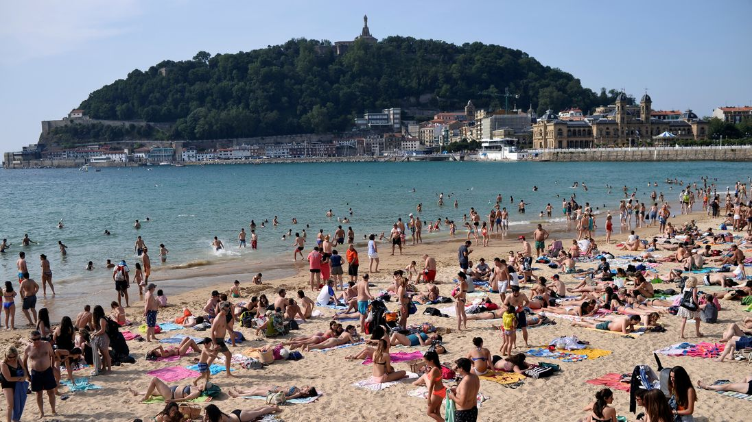 La Concha Beach, in San Sebastian, was voted the best in Europe
