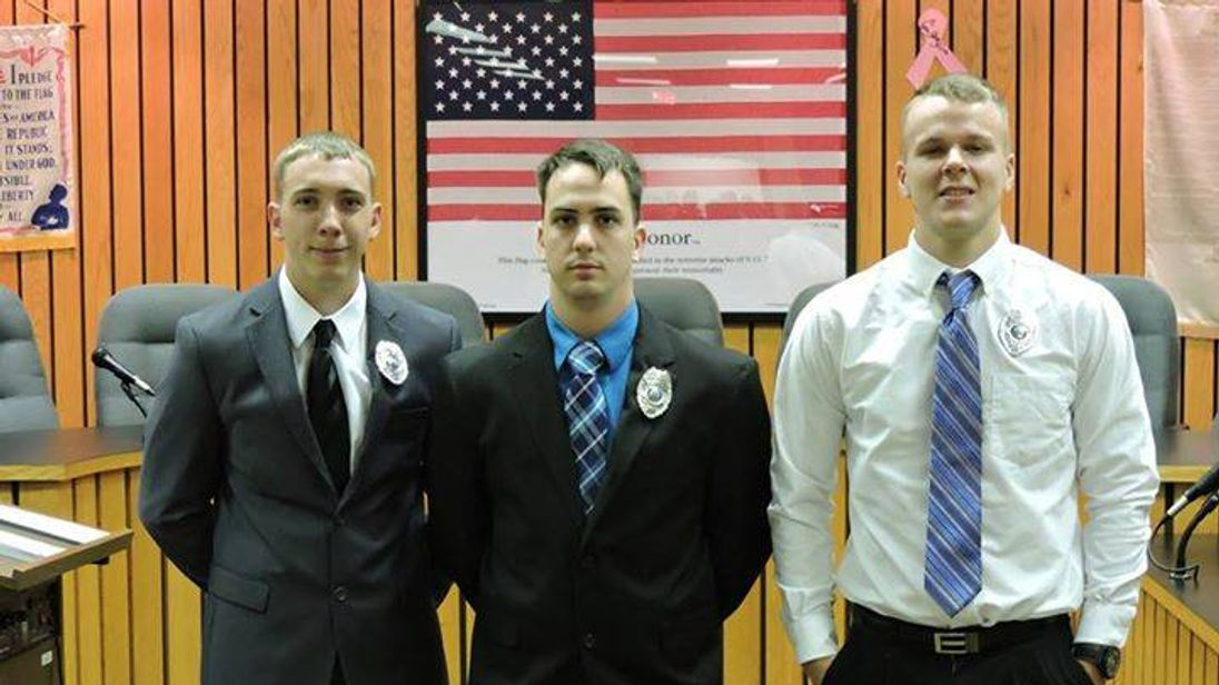 Stephen Mader after he was sworn in a Weirton City police department
