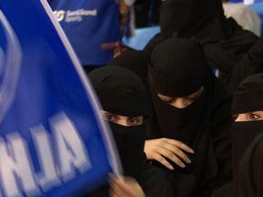Saudi women at football