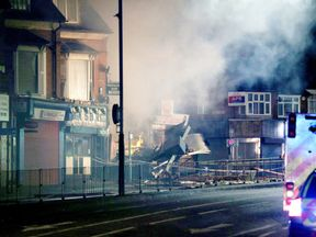 Fire in Leicester after reported explosion