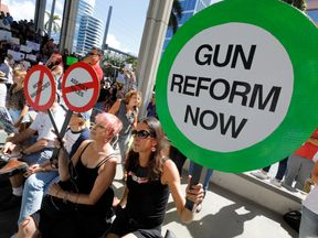 Thousands of people turned out for an anti-gun rally in Florida