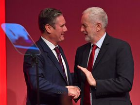 Sir Keir Starmer and Jeremy Corbyn