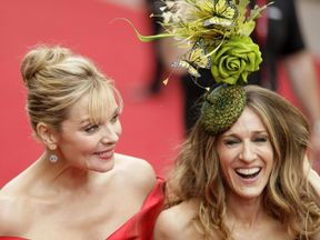 Kim Cattrall (left) lashed out at her former colleague on Instagram