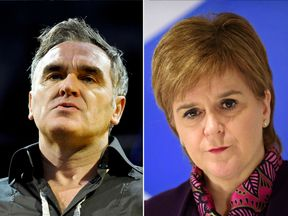 Morrissey and Nicola Sturgeon