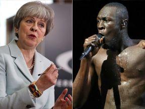 Theresa May and Stormzy