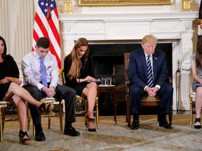 Donald Trump held a 'listening session' with survivors of recent school shootings