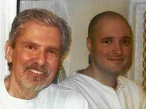 Kent Whitaker (L) and son Kevin