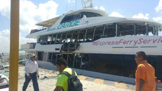 Ferry explosion