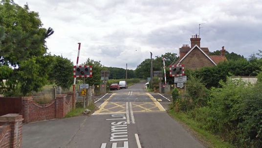 Google Maps screen grab of a level crossing in Barns Green, near Horsham in West Sussex. Two people were killed when a train hit a car there. Pic: Google Maps