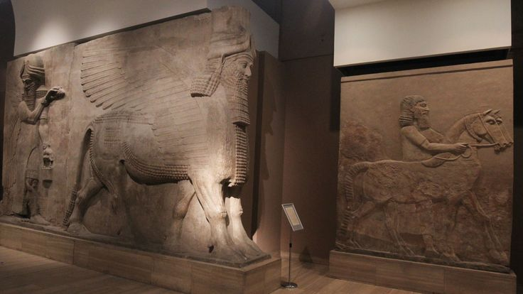Assyrian exhibits in Iraq's National Museum in Baghdad