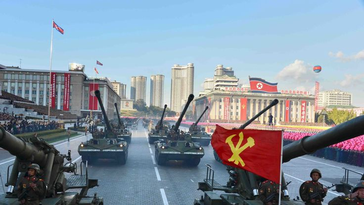 Military parades are commonplace in North Korea