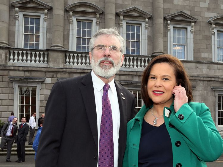 Mary Lou McDonald and Gerry Adams