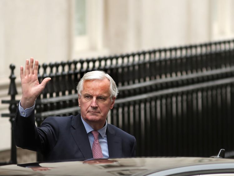 Michel Barnier visited Downing Street on Monday
