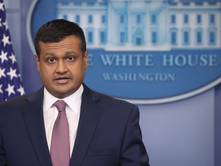 Raj Shah confirmed that Mr Porter had left the White House