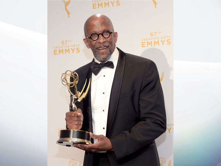 LOS ANGELES, CA - SEPTEMBER 12: Reg E. Cathey, winner of the award for guest actor in a drama for 'House of Cards,' poses in the press room during the 2015 Creative Arts Emmy Awards at Microsoft Theater on September 12, 2015 in Los Angeles, California. (Photo by Jason Kempin/Getty Images)
