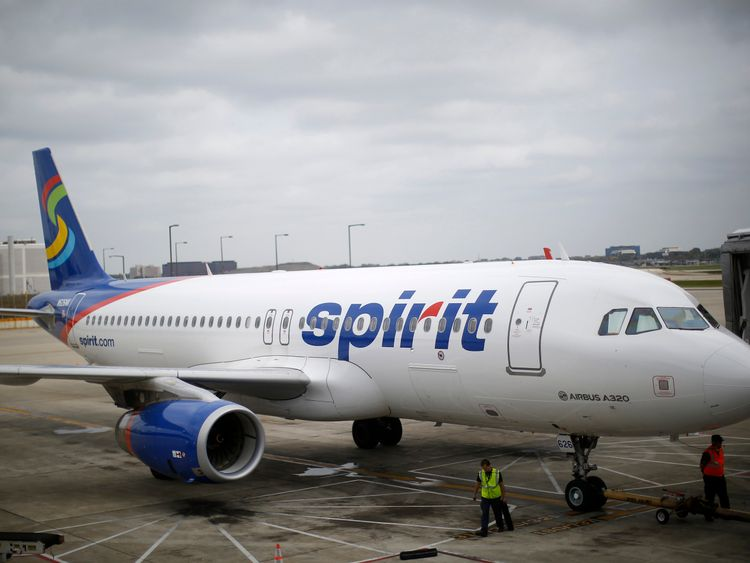 Spirit Airlines has denied suggesting that Pebbles be flushed. File pic
