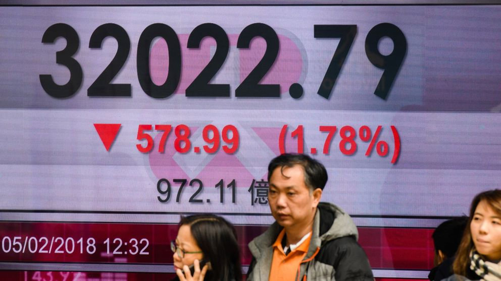 Hong Kong's Hang Seng Index managed to recover slightly by lunchtime from a low of 4.32% on Tuesday