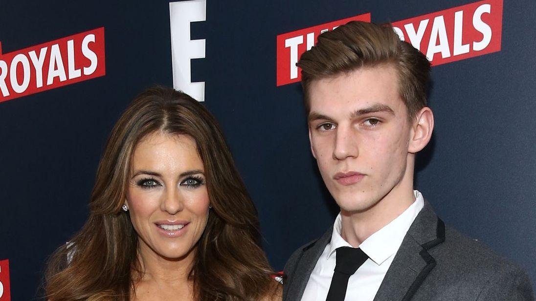 Elizabeth Hurley with nephew Miles
