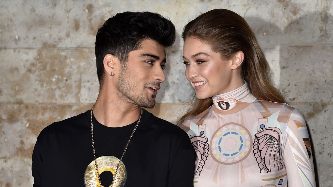 Gigi Hadid and Zayn Malik at Paris Fashion week