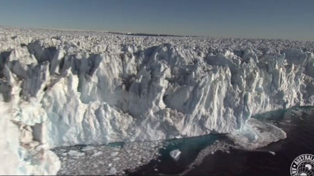 Glaciers over the sea melt faster than over hard ground. Pic: Australian Antarctic Division