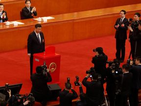 President Xi Jinping after casting his ballot