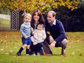 The Duke and Duchess of Cambridge with their two children, Prince George and Princess Charlotte