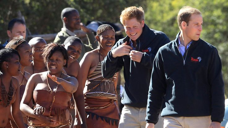 Prince Harry and Prince William visit Botswana in 2015