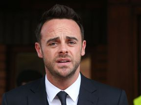 TV presenter Anthony McPartlin outside The Court House in Wimbledon, London, after being fined £86,000