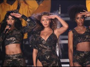 The trio sang three of their most popular songs. Pic: Beyonce/Instagram