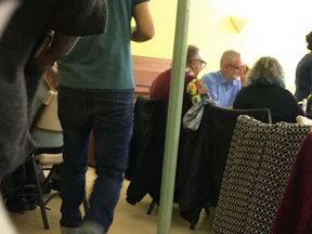 Jeremy Corbyn at the Jewdas meeting Pic: GUIDO FAWKES