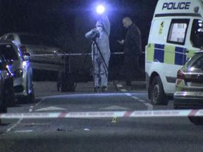 Police were investigating at the scene through the night