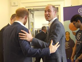 Harry and William opened a sports centre in London