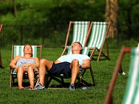 People have been making the most of the hot weather