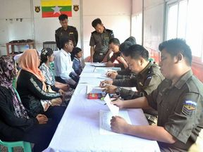 Myanmar's government has repatriated the first Rohingya family. Pic: Myanmar's Information Committee