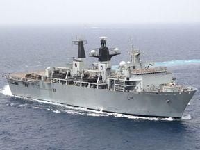 HMS Albion is an amphibious assault ship