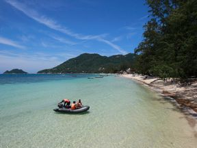 A woman was allegedly drugged and raped at the popular holiday destination