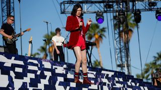 Borns performs at the Coachella Valley Music and Arts Festival in Indio