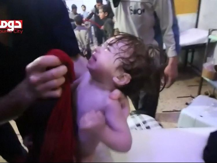 Aftermath of alleged chemical attack