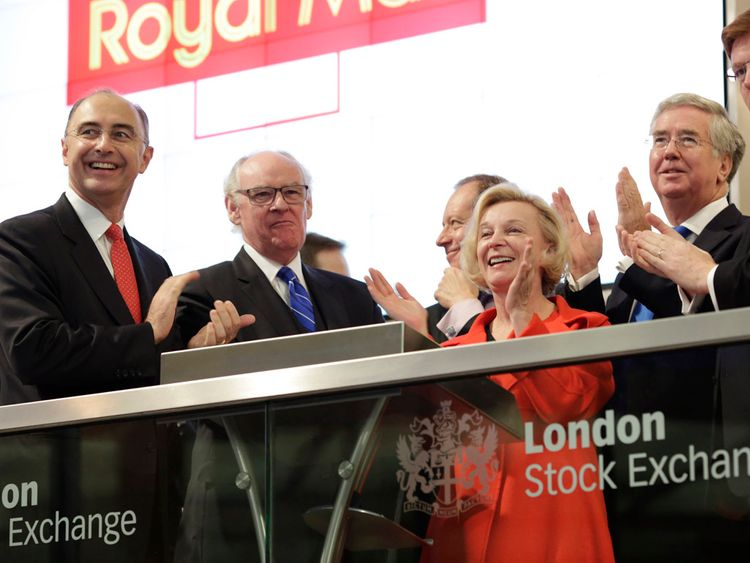 Moya Greene pictured at the Royal Mail's opening at the London Stock Exchange in October 2013